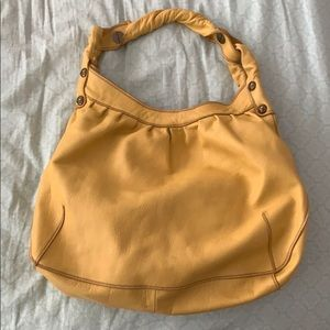 Lucky Brand Yellow Mustard Leather Shoulder Bag